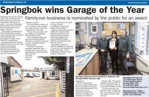 Springbok wins Garage of the Year